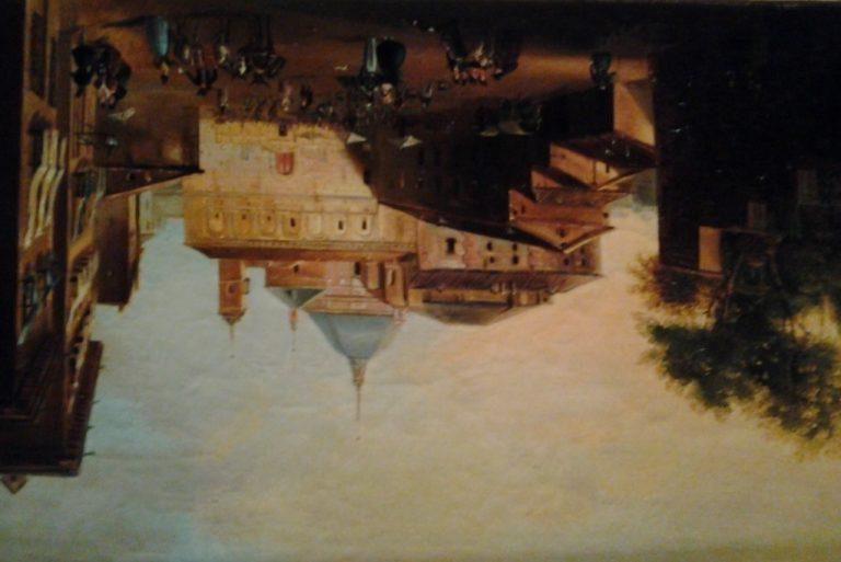 Palacio Vargas. Fachada a Pza Paja. pintura del XVIII - copia